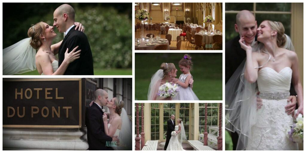 Hotel duPont wedding videographer