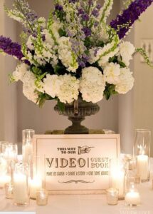 wedding video booth - signage