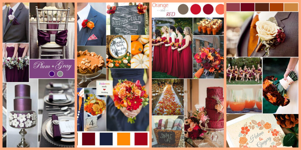 Fall Wedding - Color Palettes