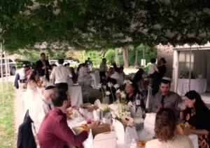 Outdoor Wedding Reception Video Merion PA