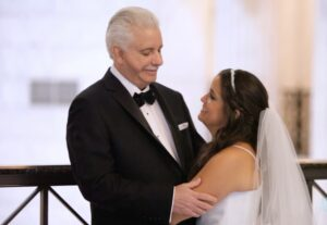 Father Daughter First Look Woodcrest Country Club Wedding